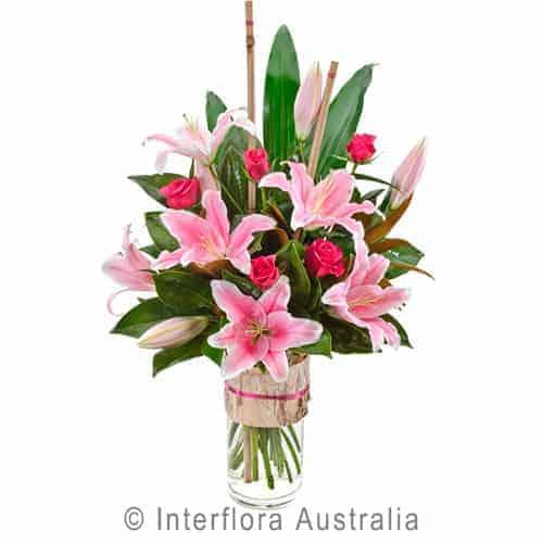 Lily Rose Bouquet Vase